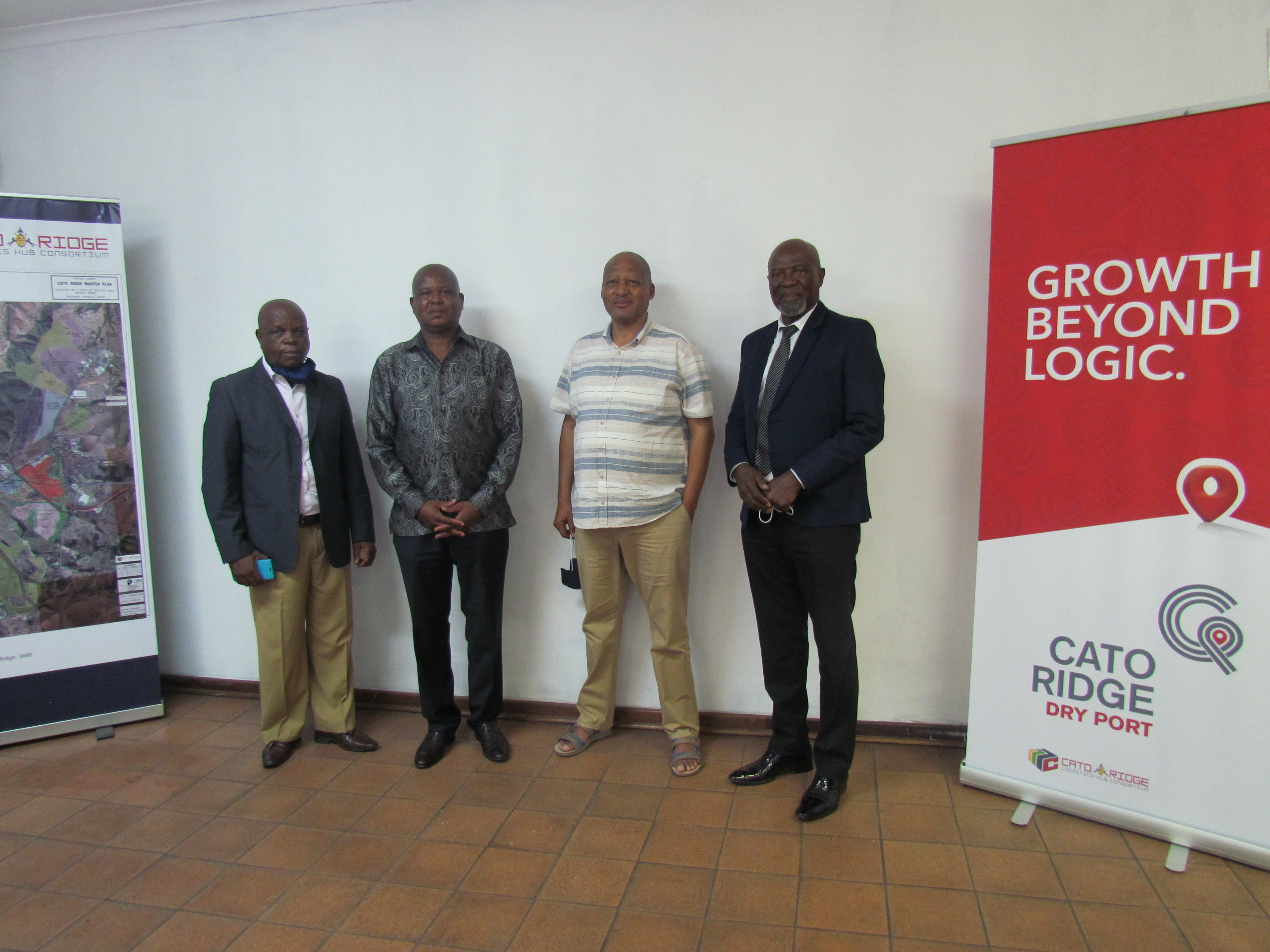NAFCOC high powered delegation led by its President Mr. G. Mosena on a Cato Ridge Dry Port site visit