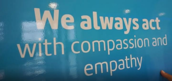 We always act with compassion and empathy