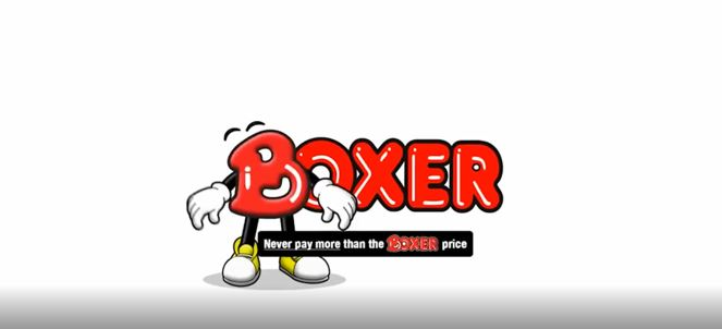 Never pay more than the BOXER price