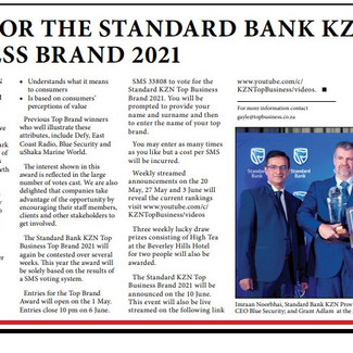 Vote for KZN Top Brand 2021