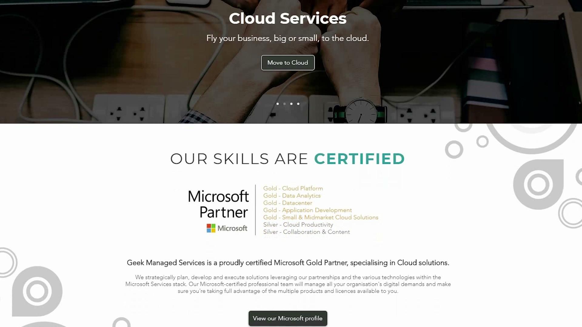 Geek Managed Services Microsoft Partner