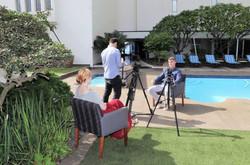 Damian Bradley video shoot