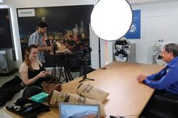 Allan Hirsch behind the scene business leaders video shoot
