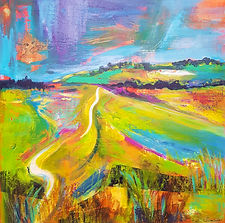 Sarah Cox. Pewley Downs.Acrylic on canva