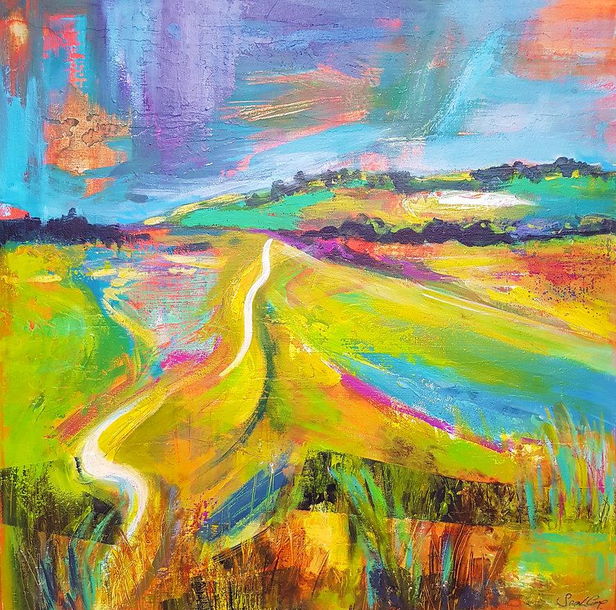 Sarah Cox. Pewley Downs.Acrylic on canva