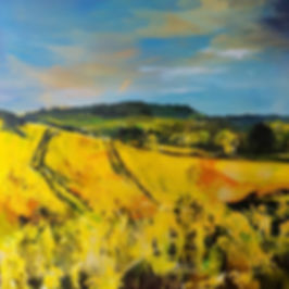 Almost finished painting 'The Chantries'
