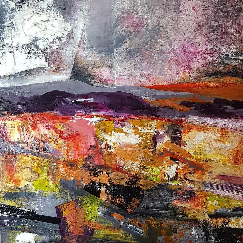 Sarah Cox - Heading for Holmbury. Acrylic on canvas.jpg