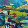 'Lost Paths' 75 x 75cm acrylic on canvas