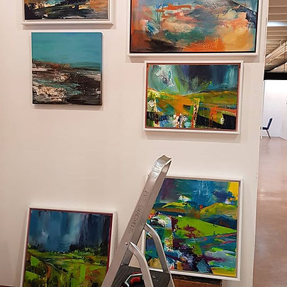 Setting up this morning for my exhibitio