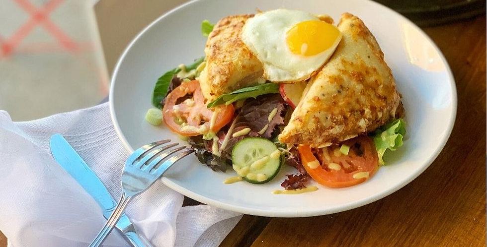 Croque Madame Salad Combo