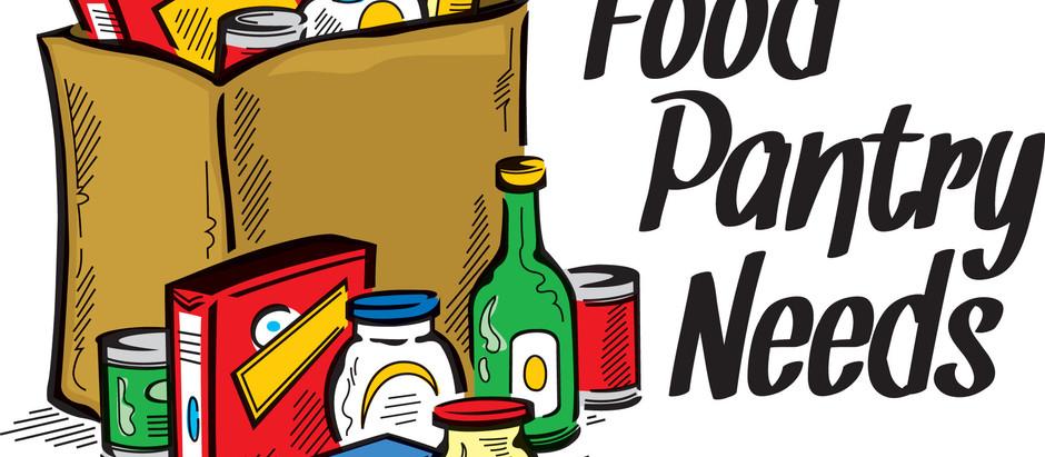 Food Bank Pantry and Thanksgiving Basket Needs