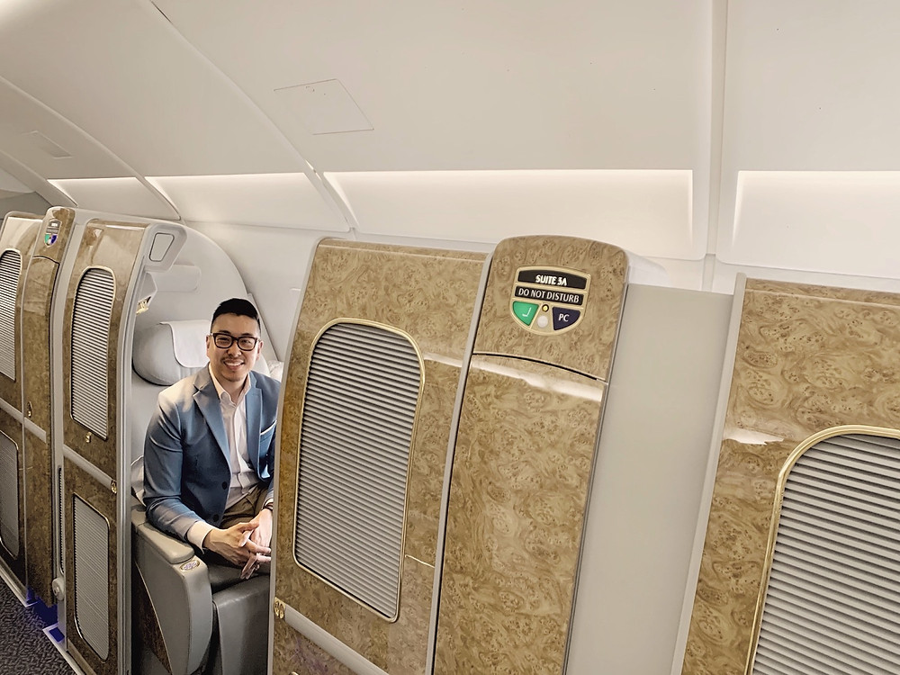 Emirates First Class San Francisco - Dubai, Suite 3A