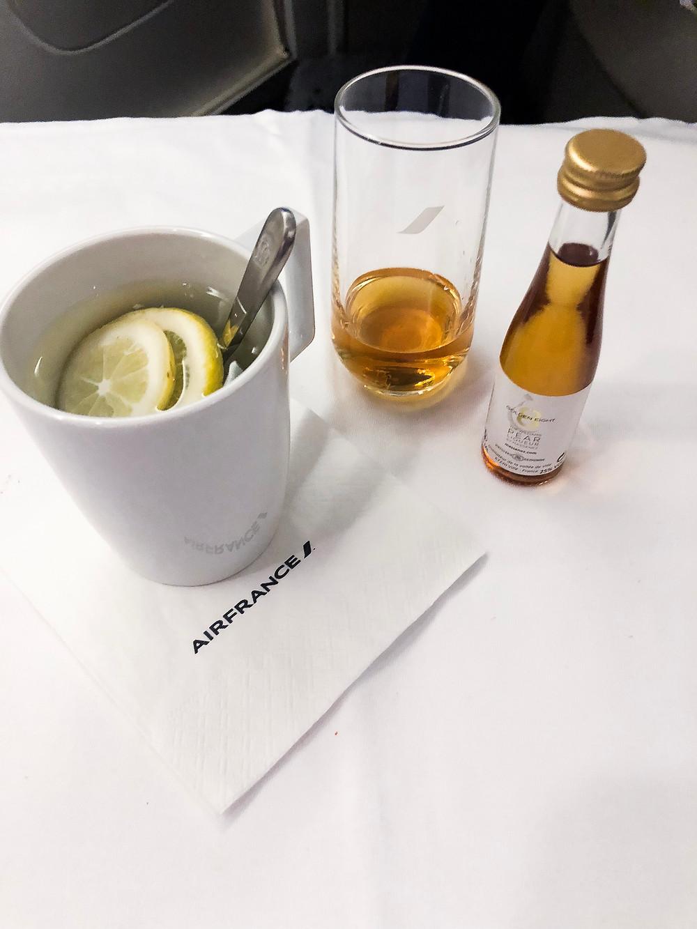 Air France Business Class, Pear Brandy