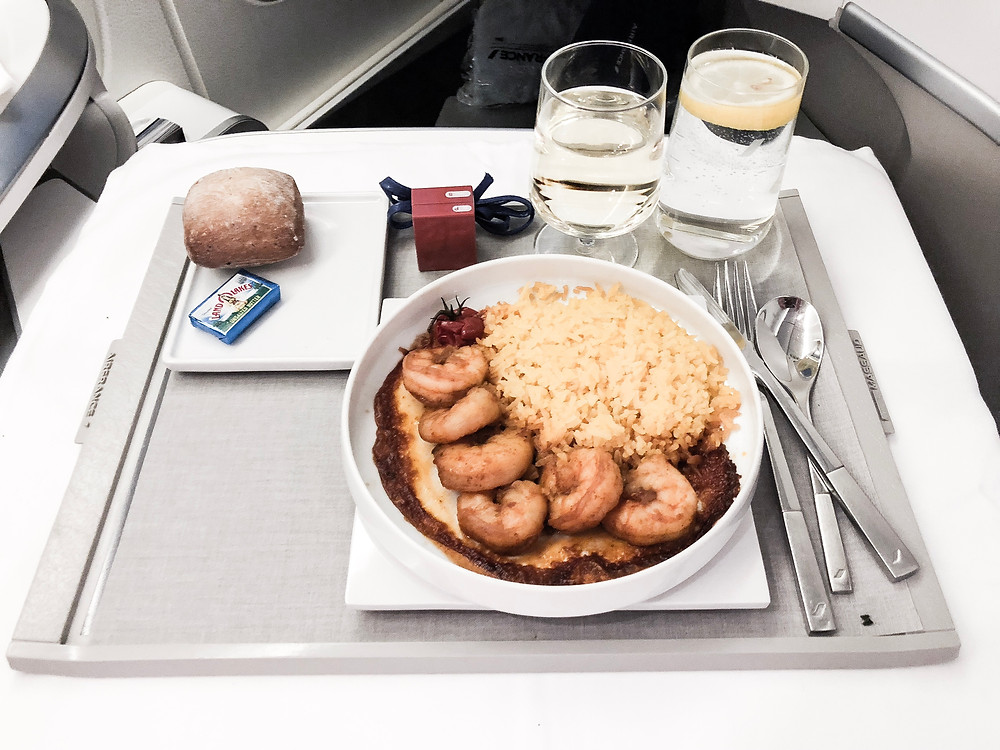 Air France Business Class, The Main Course