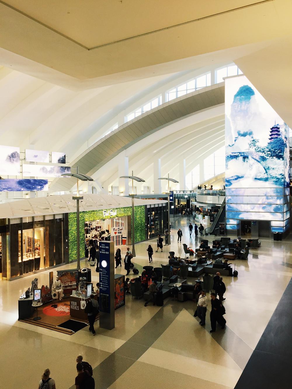 LAX, TBIT International Terminal Atrium