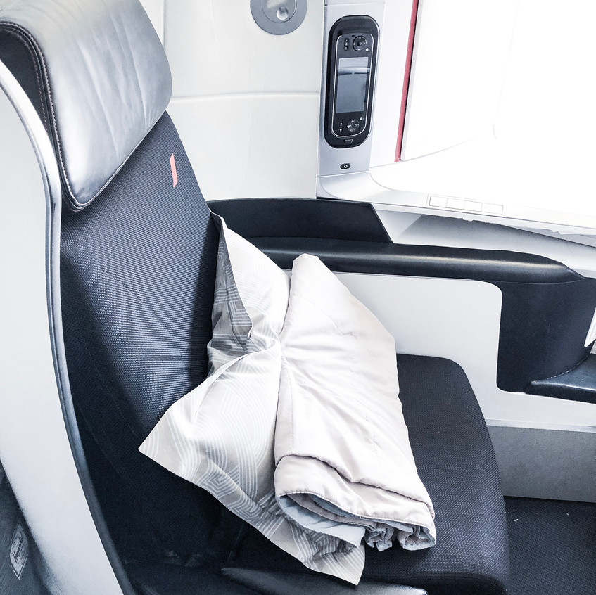 Air France Business Class, The Seat