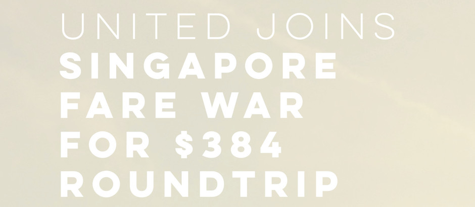 United Airlines: Fly Roundtrip Los Angeles to Singapore for $384