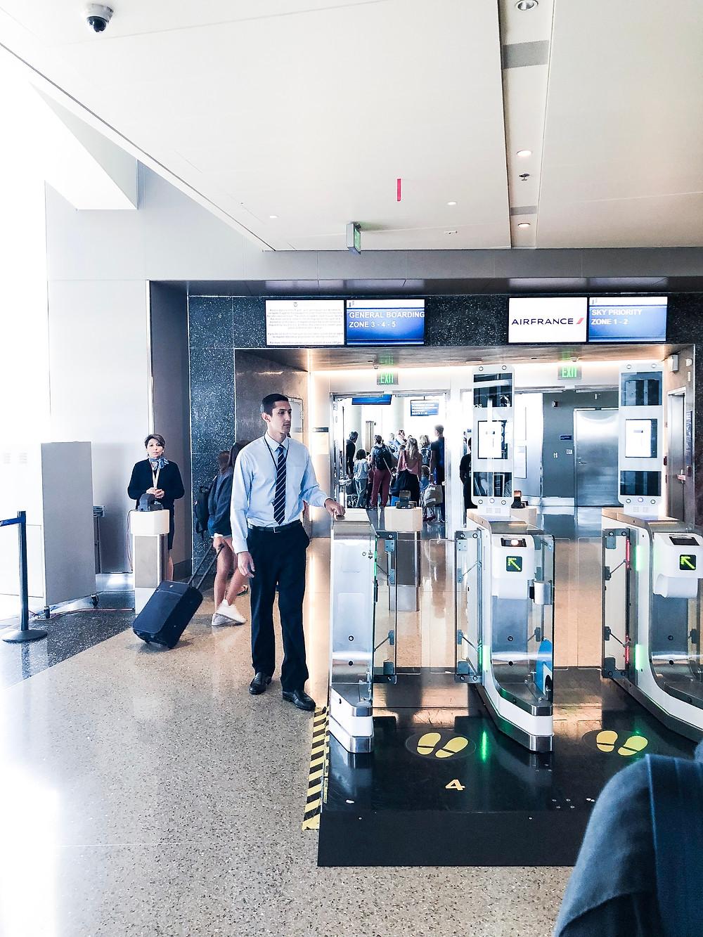 LAX Biometric Boarding Scanners