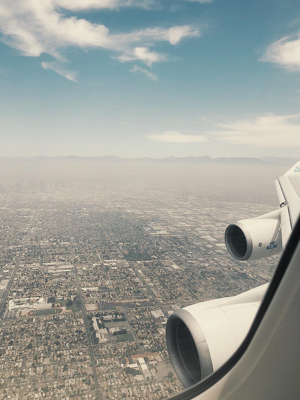 KLM Boeing 747-400ER Combi Landing
