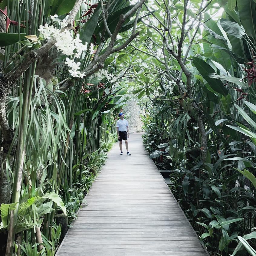 Mandapa Spa Walkway