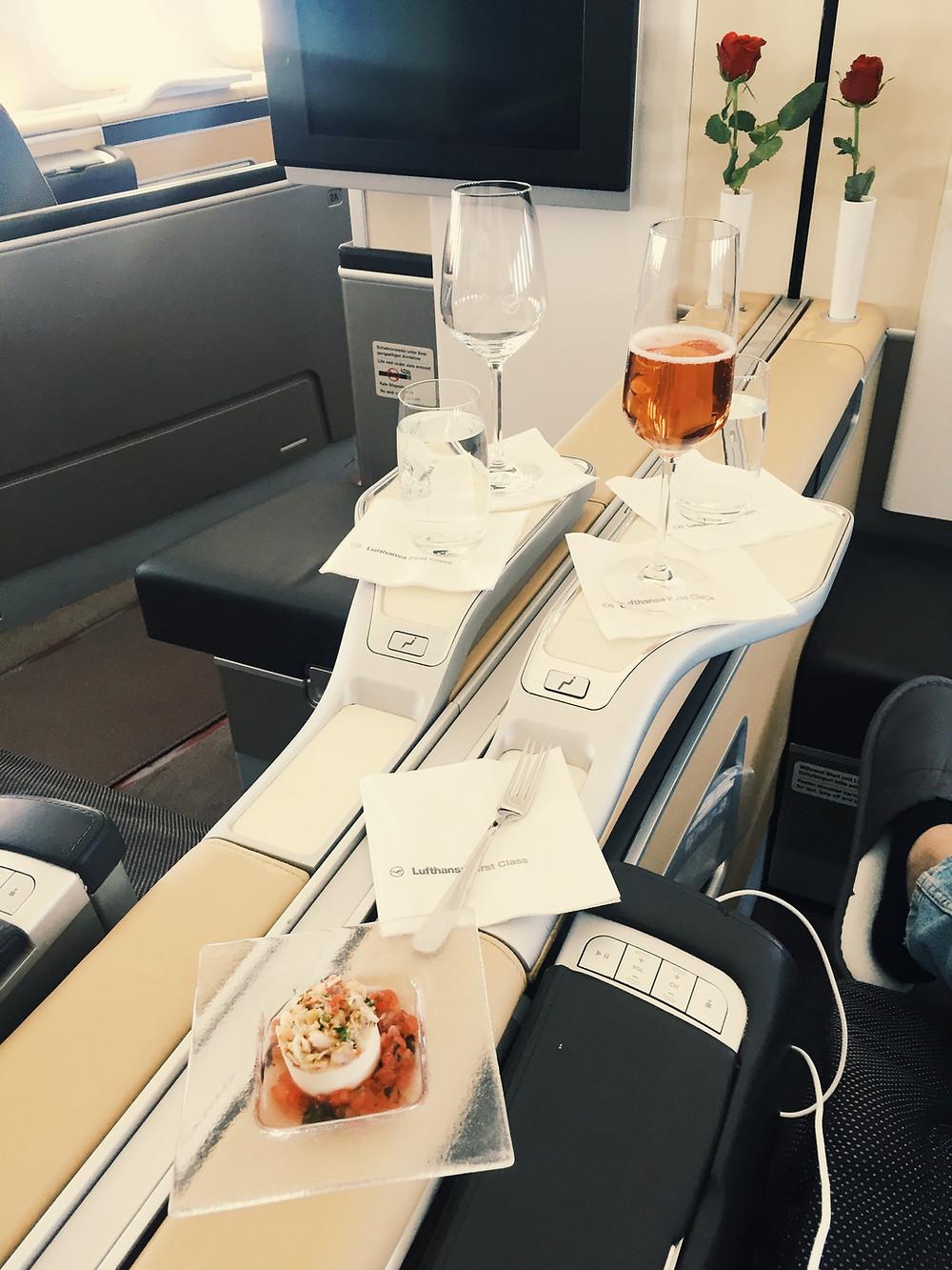 Lufthansa First Class, Amuse Bouche