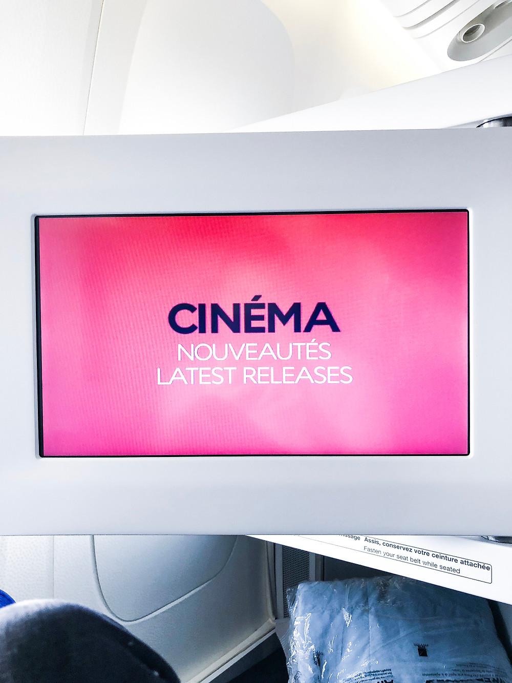Air France Business Class, Touch Entertainment