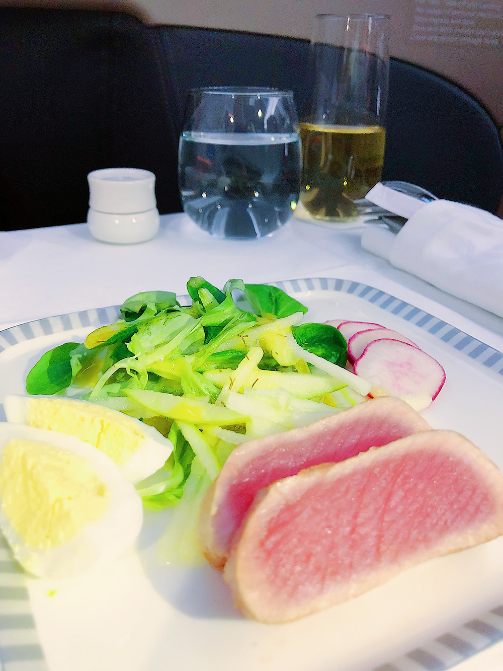 Singapore Airlines Business Class, Salad Appetizer