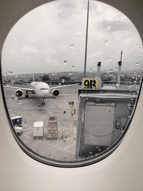 Emirates First Class San Francisco - Dubai, SFO Gate 9