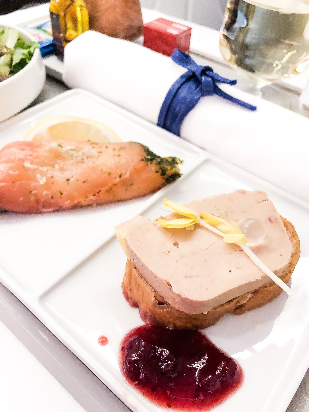 Air France Business Class, The Appetizer