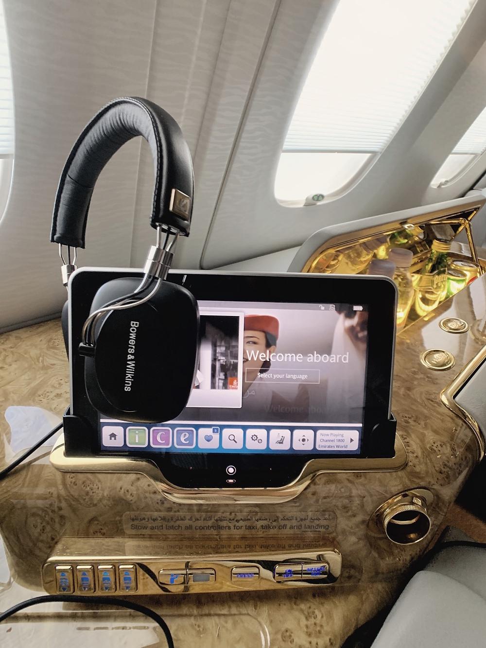 Emirates First Class San Francisco - Dubai, Inflight Entertainment System