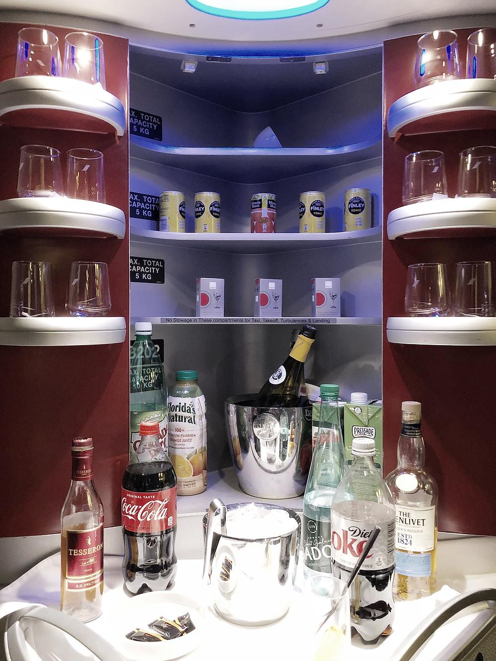 Air France Business Class, The Onboard Bar