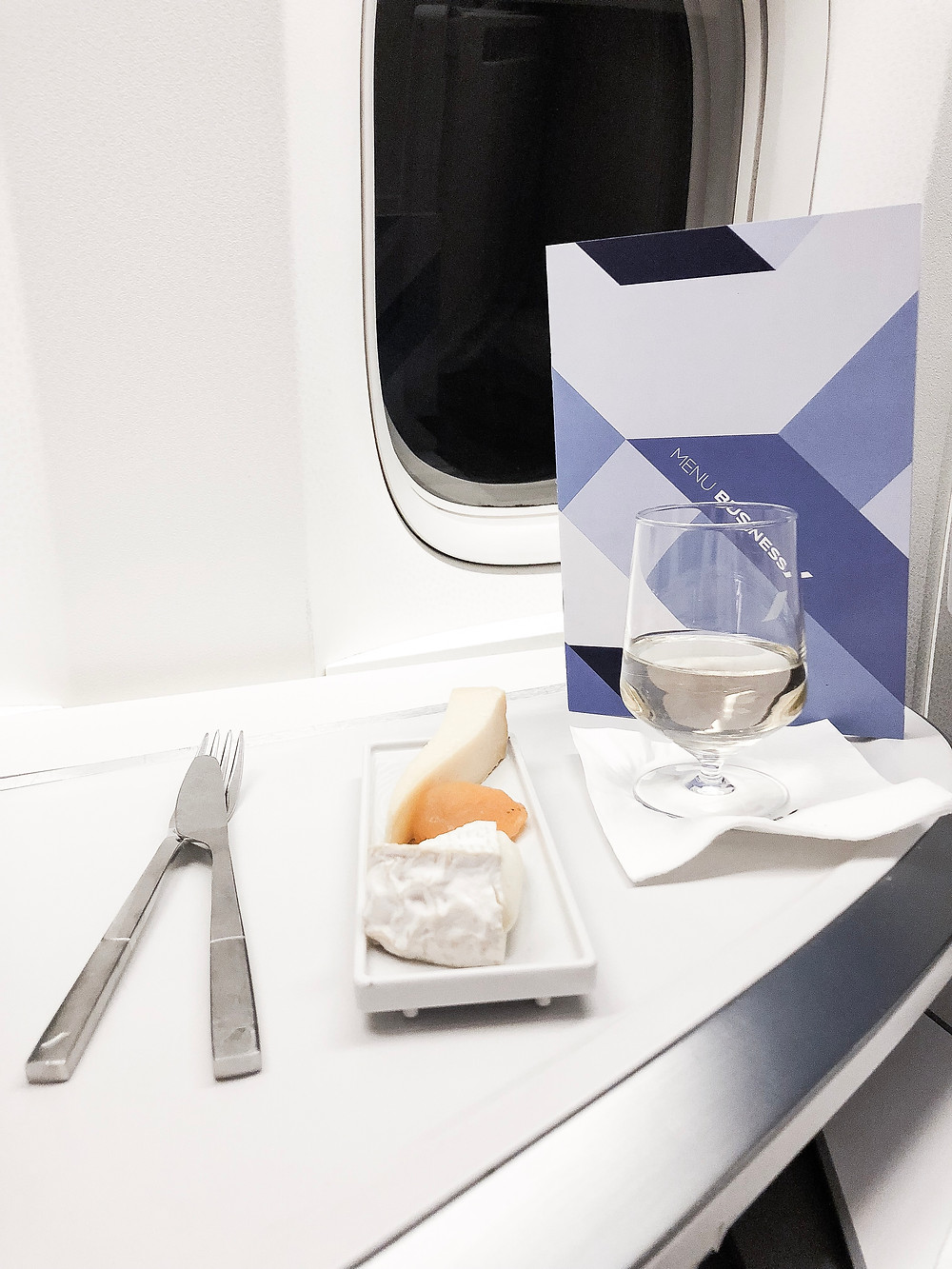 Air France Business Class, The Cheese Platter