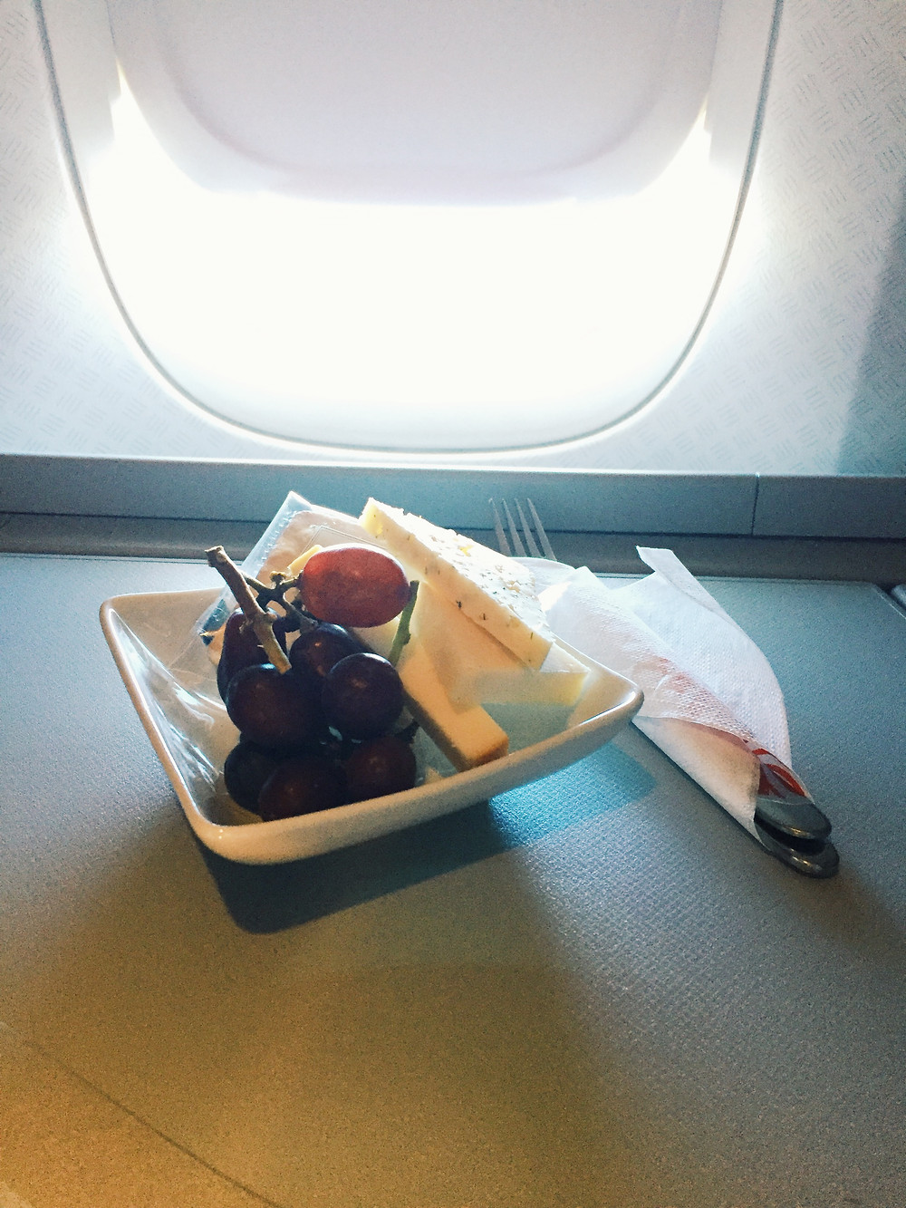 American Airlines Business Class, Cheese Platter