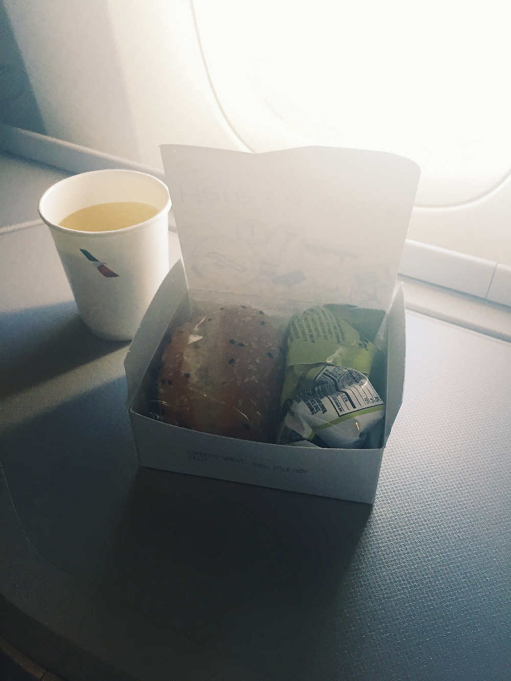 American Airlines Business Class, Boxed Sandwiches