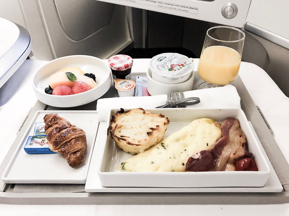 Air France Business Class, Pre-Arrival Meal