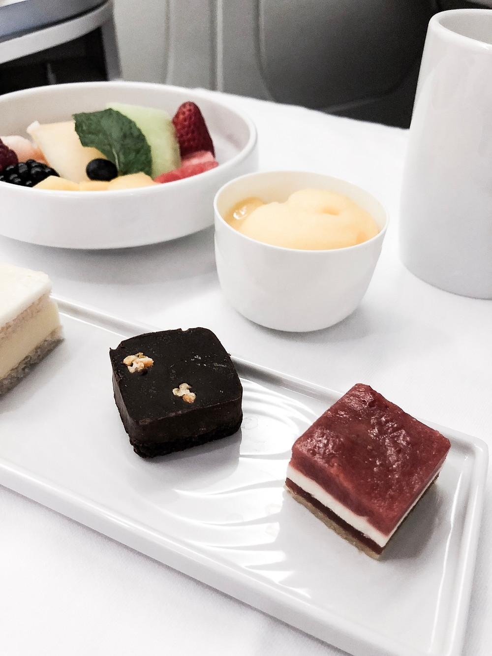Air France Business Class, The Dessert