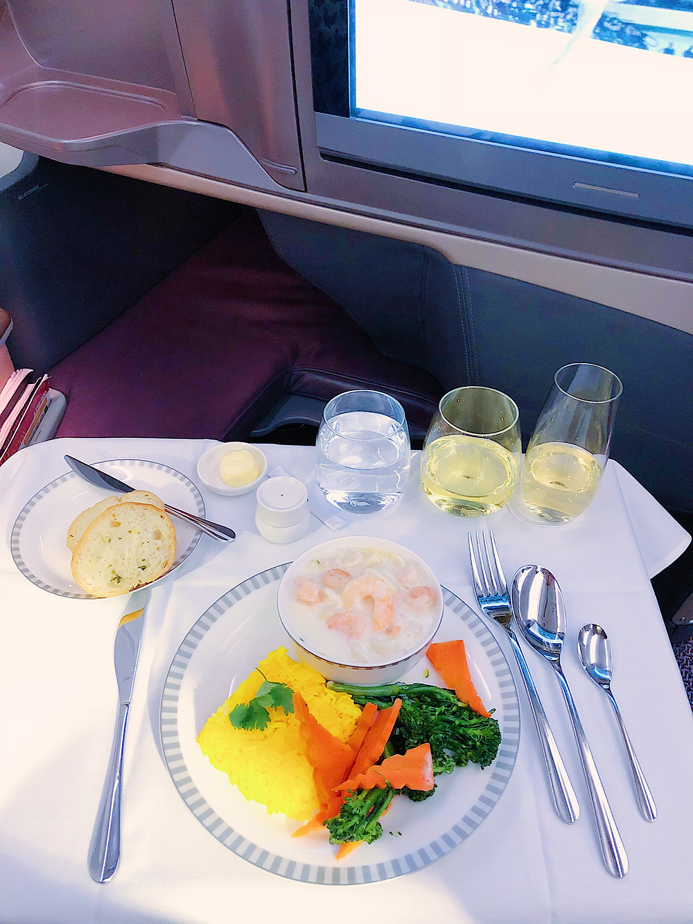 Singapore Airlines Business Class, Seafood Thermador