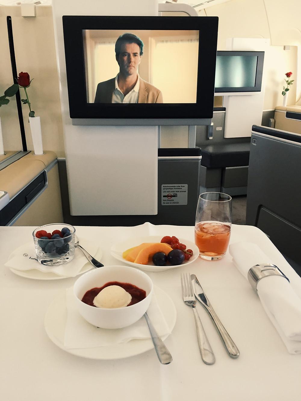Lufthansa First Class, Dessert Trio