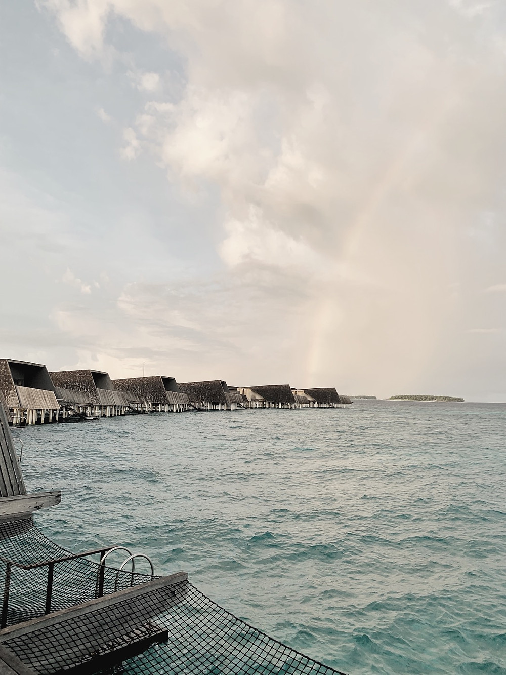 Maldives in May: Rainbow after Rainshower