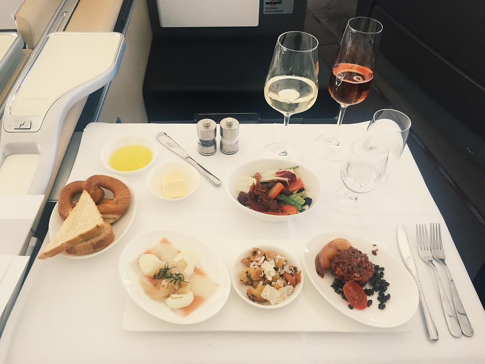Lufthansa First Class, Appetizers