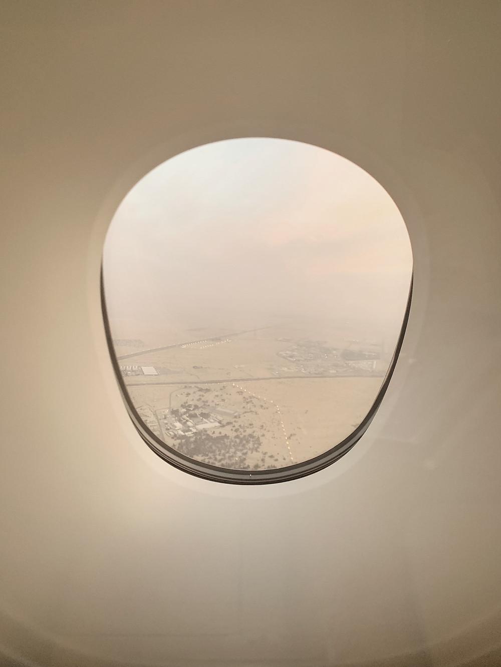 Emirates First Class San Francisco - Dubai, Arrival Views