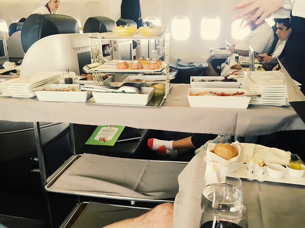 Turkish Airlines Business Class, Appetizer Trolley