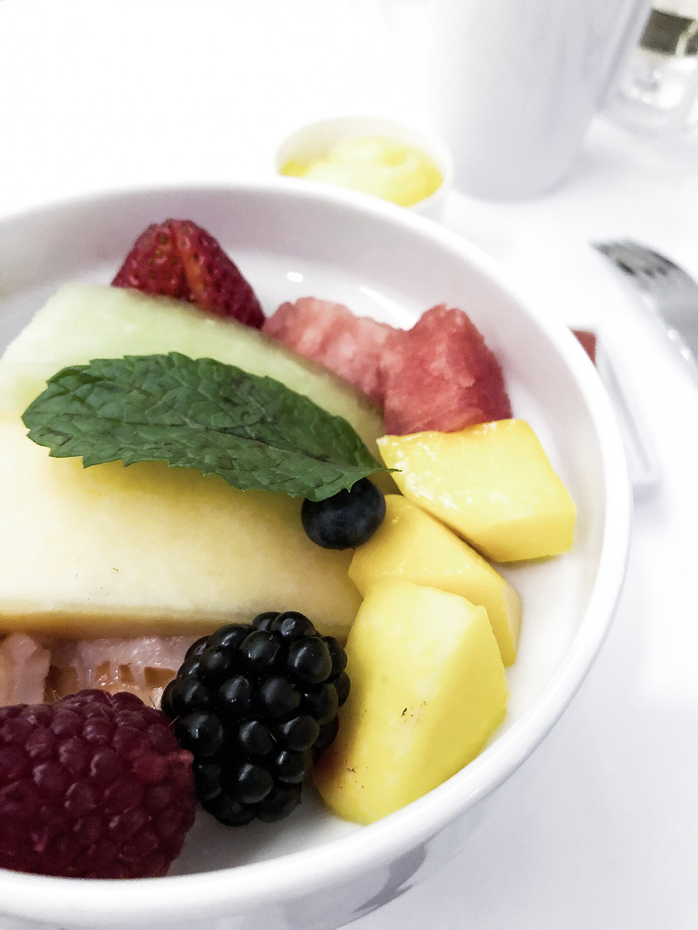 Air France Business Class, The Fruit