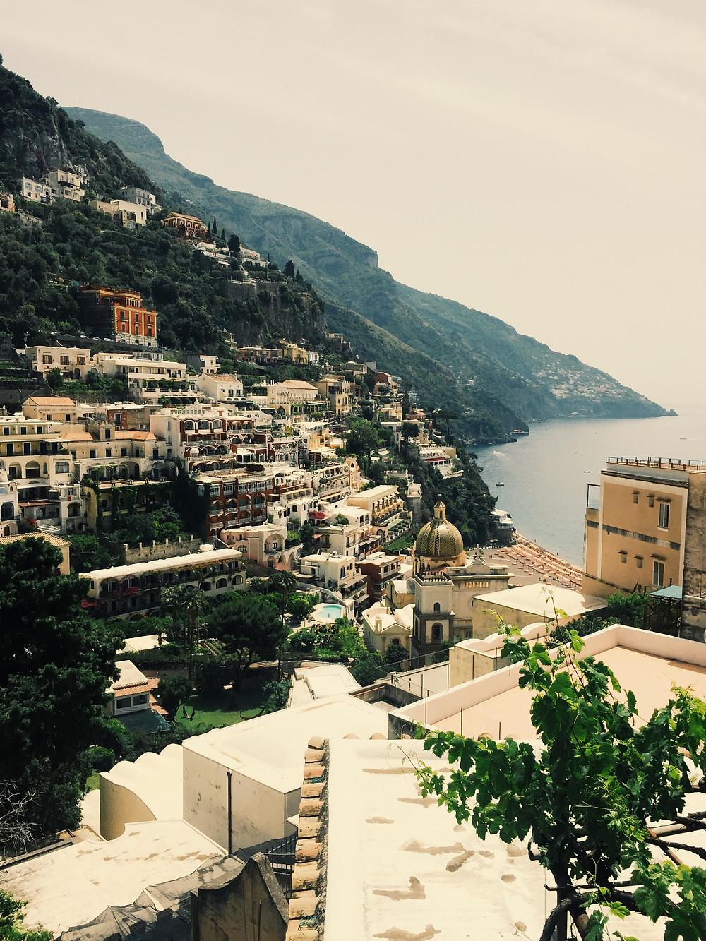 View from the Hotel Casa Albertina in Positano