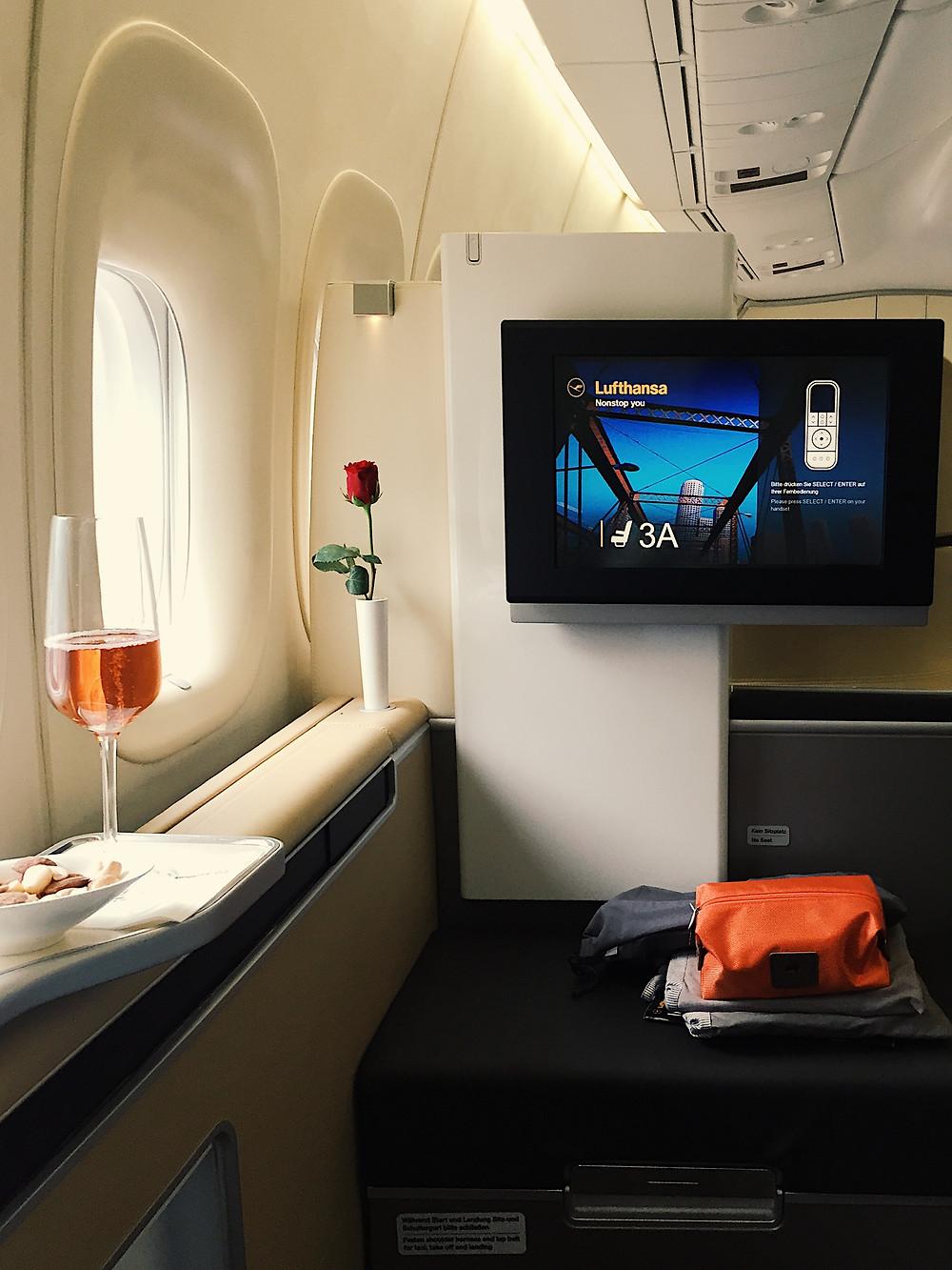 Lufthansa First Class, Seat 3A