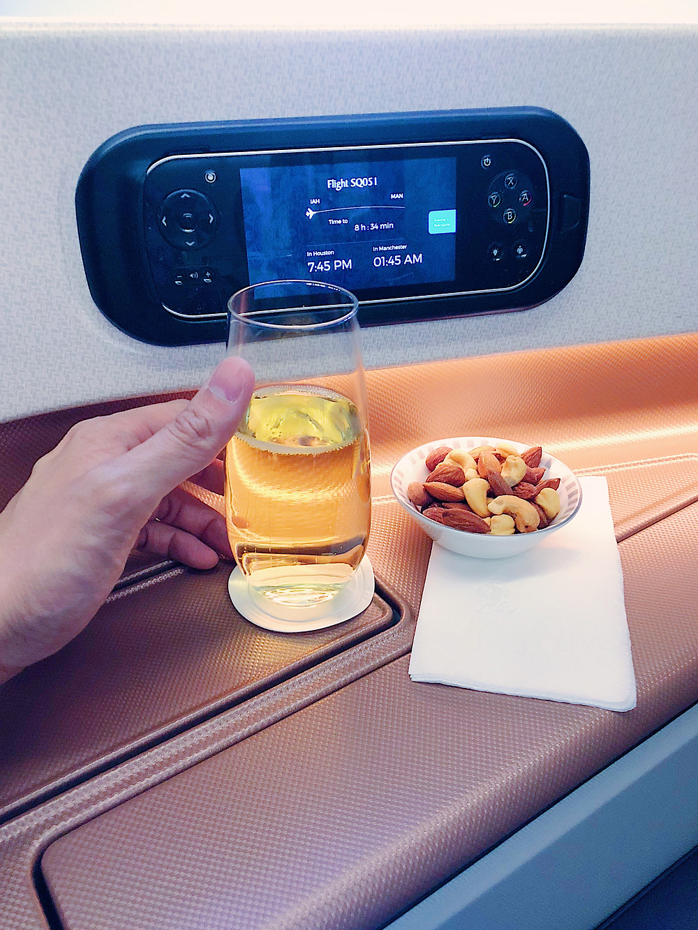 Singapore Airlines Business Class, Drink Service