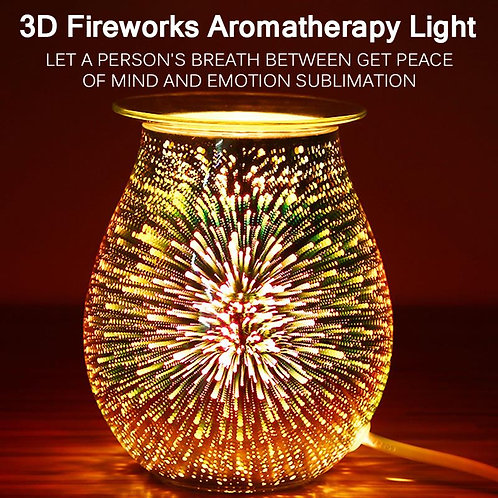 3D Glass Aromatherapy Wax Melt Warmer for Home Office Bedroom