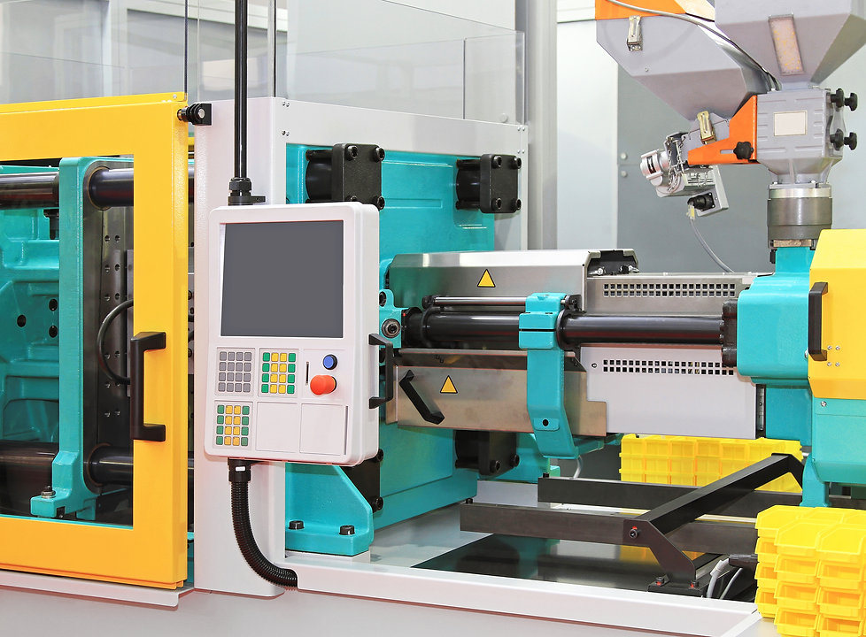 Injection moulding machine for plastic p