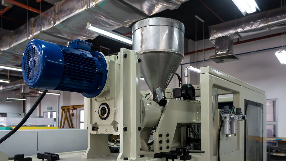 Plastic injection molding machine in a m