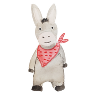 —Pngtree—little donkey red scarf red_390